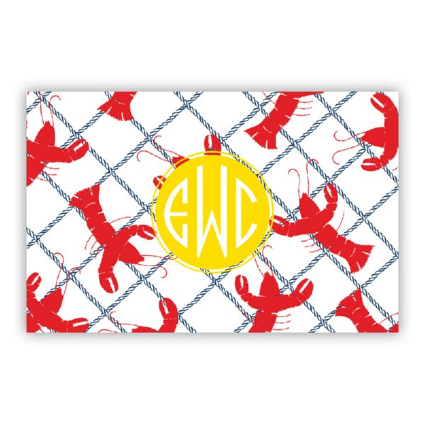 Rock Lobster Personalized Double-Sided Laminated Placemat