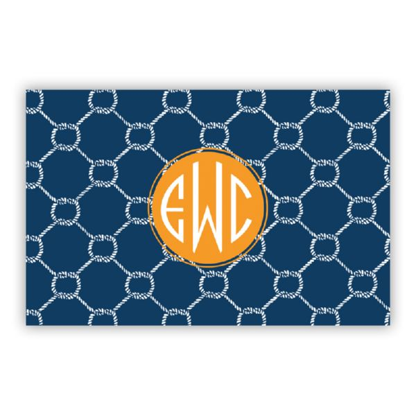 Rope Personalized Double-Sided Laminated Placemat