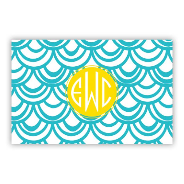 Seashells Personalized Double-Sided Laminated Placemat
