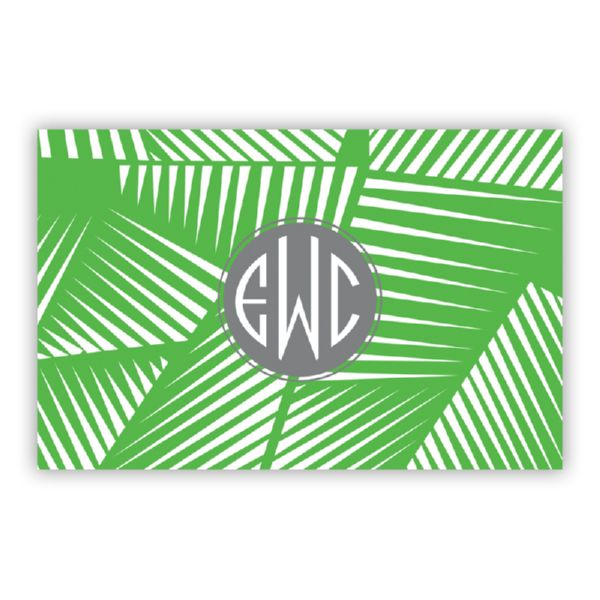 Palm Personalized Double-Sided Laminated Placemat
