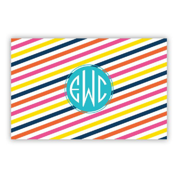 Fruit Stripe Personalized Double-Sided Laminated Placemat