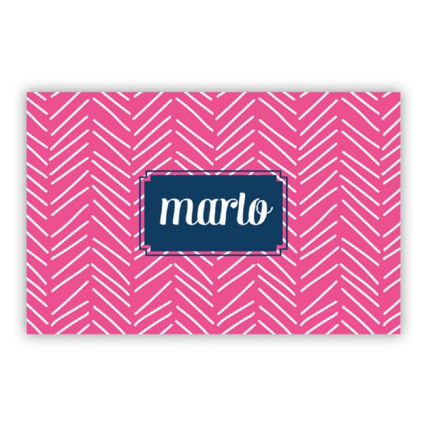 Little Lines Personalized Double-Sided Laminated Placemat