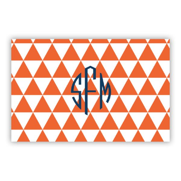 Triangles Personalized Double-Sided Laminated Placemat
