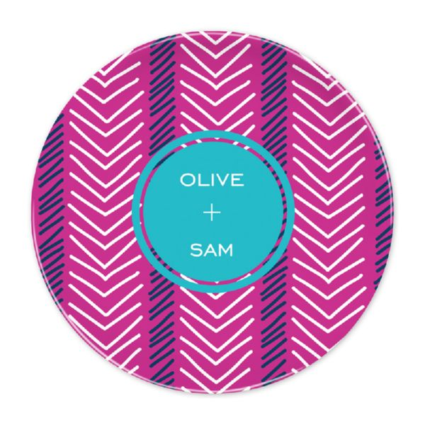Topstitch Personalized Dinner Plate