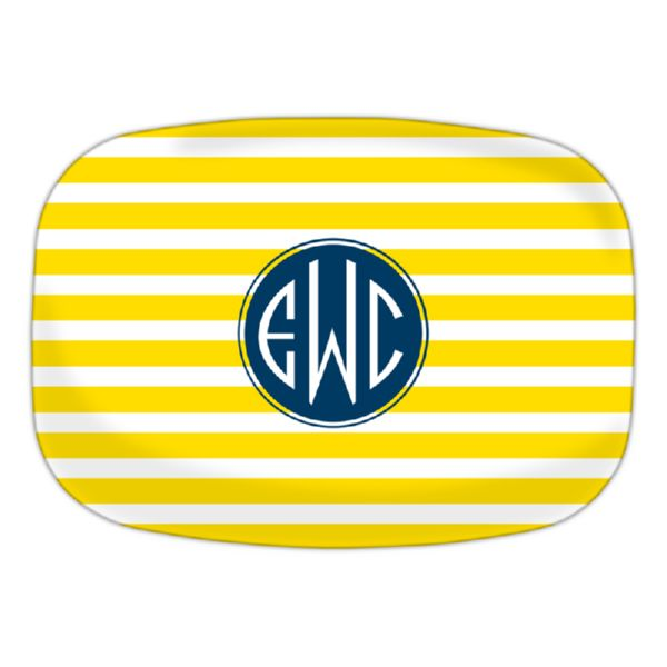 Cabana Personalized Oval Platter