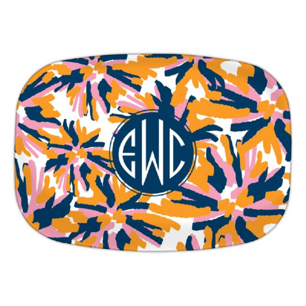 Fireworks Personalized Oval Platter