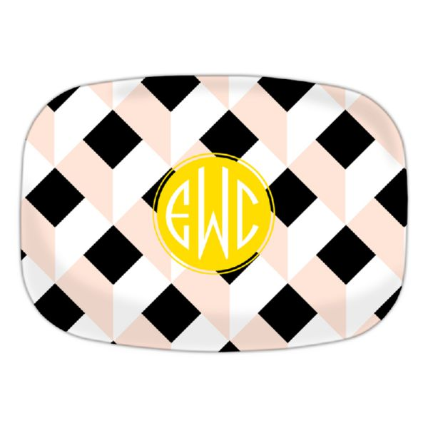 Golden Girl Personalized Oval Platter