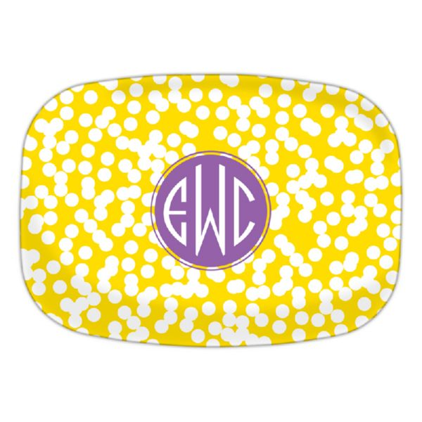Hole Punch Personalized Oval Platter