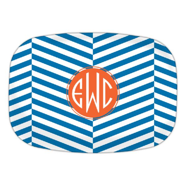 Perspective Personalized Oval Platter