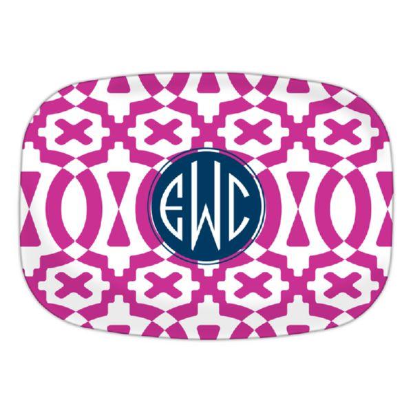 Poppy Personalized Oval Platter