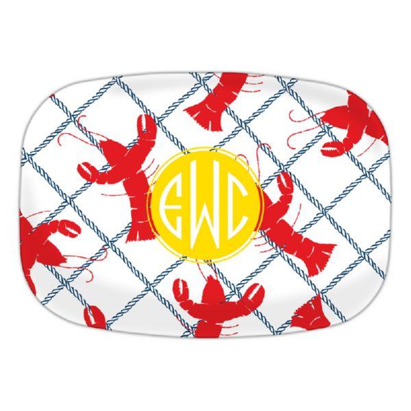Rock Lobster Personalized Oval Platter