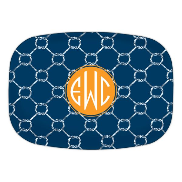 Rope Personalized Oval Platter