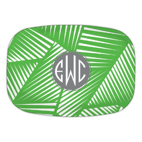 Palm Personalized Oval Platter