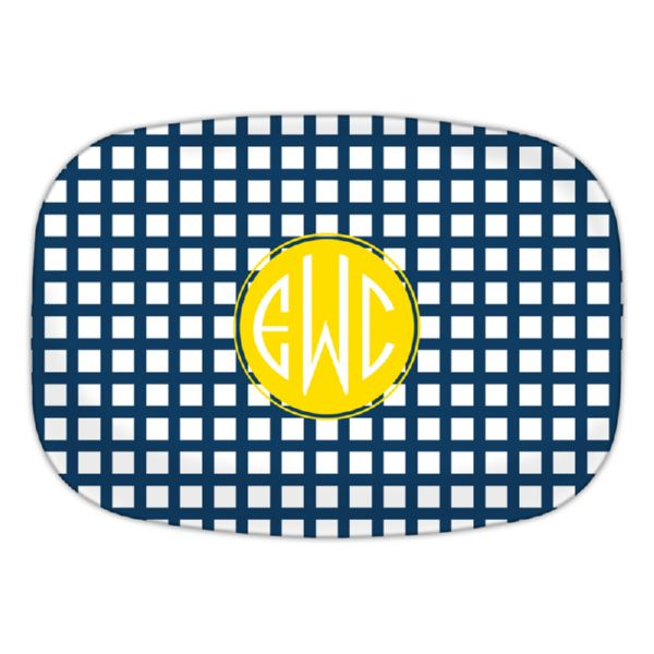 Checks & Balances Personalized Oval Platter