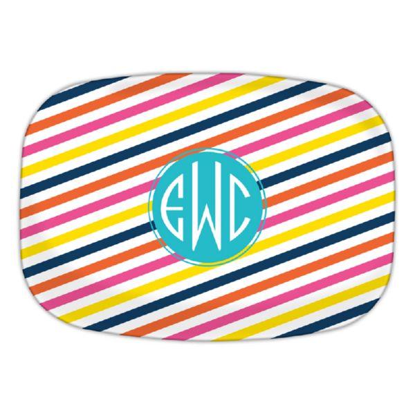 Fruit Stripe Personalized Oval Platter