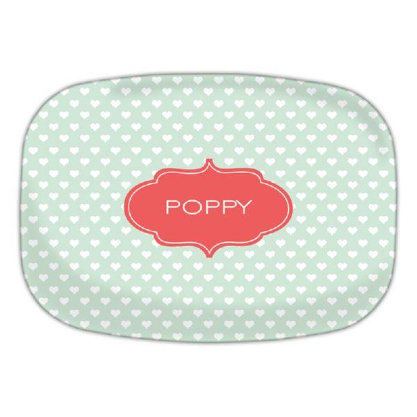 Minnie Personalized Oval Platter