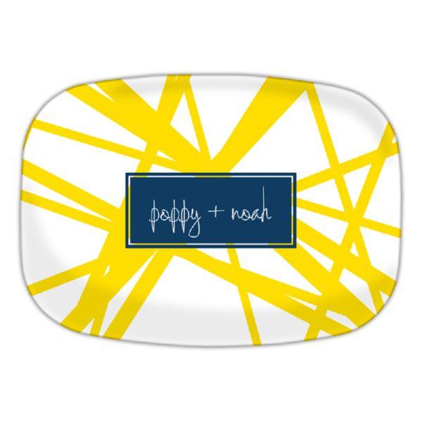 Pick Up Stix Personalized Oval Platter