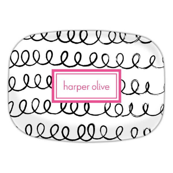 Weeeee Personalized Oval Platter