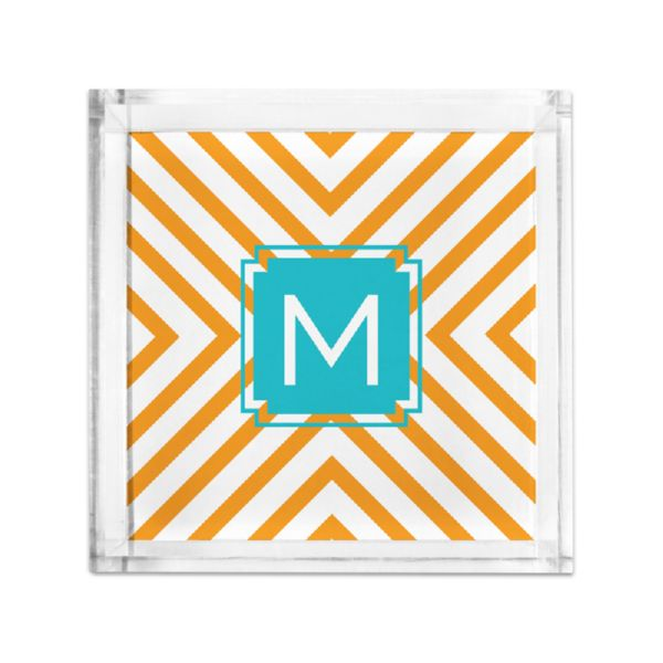 Chevron Personalized Petite Serving Tray (Lucite)