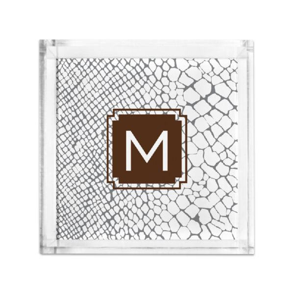 Snakeskin Personalized Petite Serving Tray (Lucite)