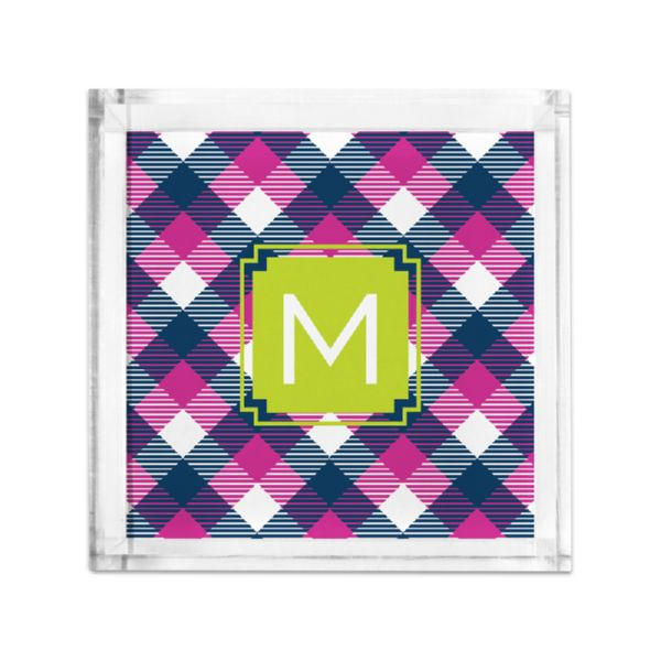 Tartan Personalized Petite Serving Tray (Lucite)