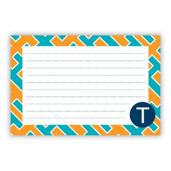 Acapulco Personalized Double-Sided Recipe Cards (Set of 24)