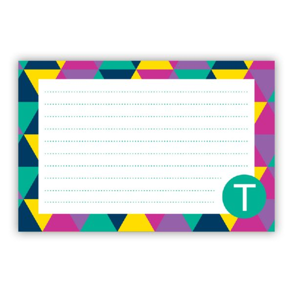 Acute Personalized Double-Sided Recipe Cards (Set of 24)