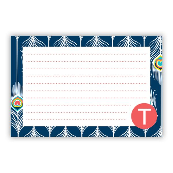 Argus Personalized Double-Sided Recipe Cards (Set of 24)