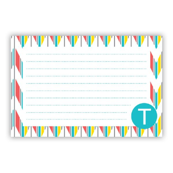 Arrowhead Personalized Double-Sided Recipe Cards (Set of 24)