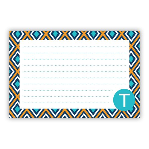 Lantern Personalized Double-Sided Recipe Cards (Set of 24)