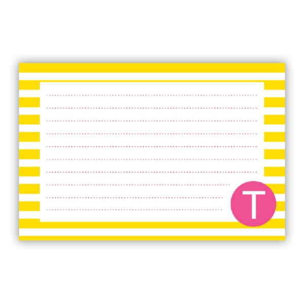 Cabana Personalized Double-Sided Recipe Cards (Set of 24)