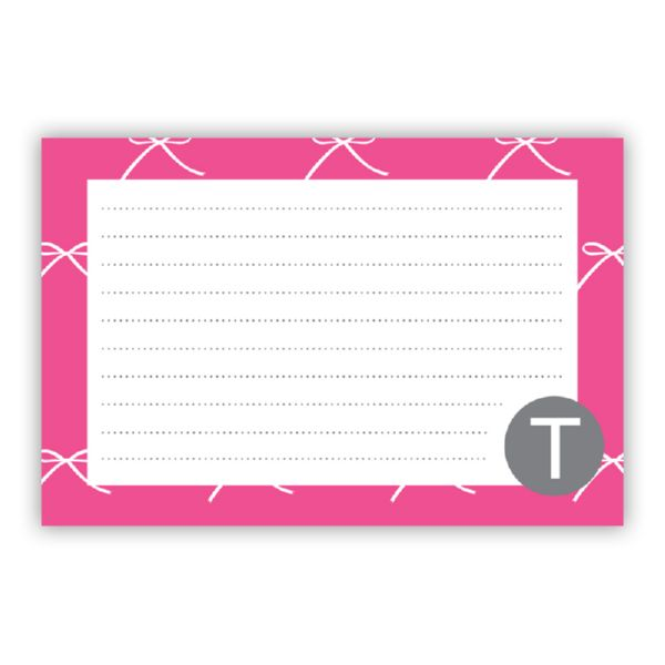 Chloe Personalized Double-Sided Recipe Cards (Set of 24)