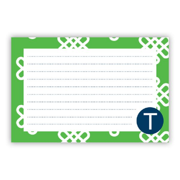 Clementine Personalized Double-Sided Recipe Cards (Set of 24)