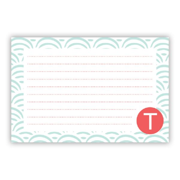 Ella Personalized Double-Sided Recipe Cards (Set of 24)