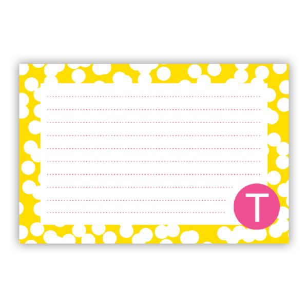 Hole Punch Personalized Double-Sided Recipe Cards (Set of 24)