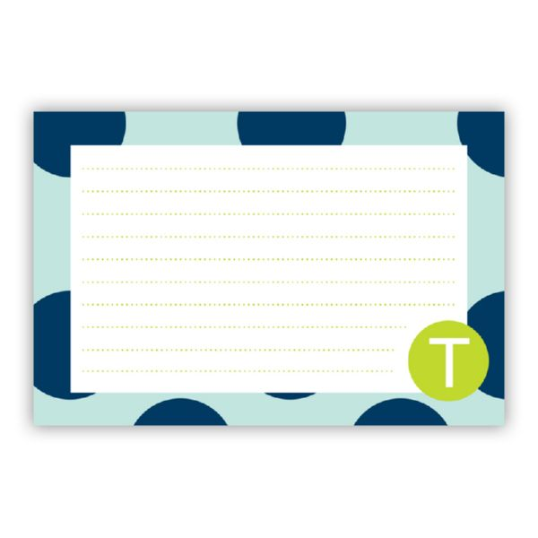 Jane Personalized Double-Sided Recipe Cards (Set of 24)