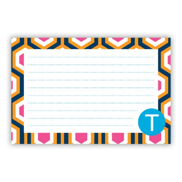 London Calling Personalized Double-Sided Recipe Cards (Set of 24)