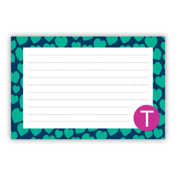 Love Struck Personalized Double-Sided Recipe Cards (Set of 24)