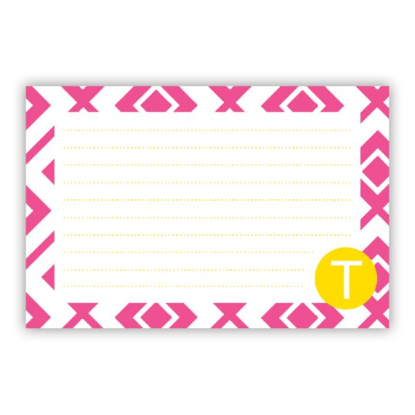Lucy Personalized Double-Sided Recipe Cards (Set of 24)