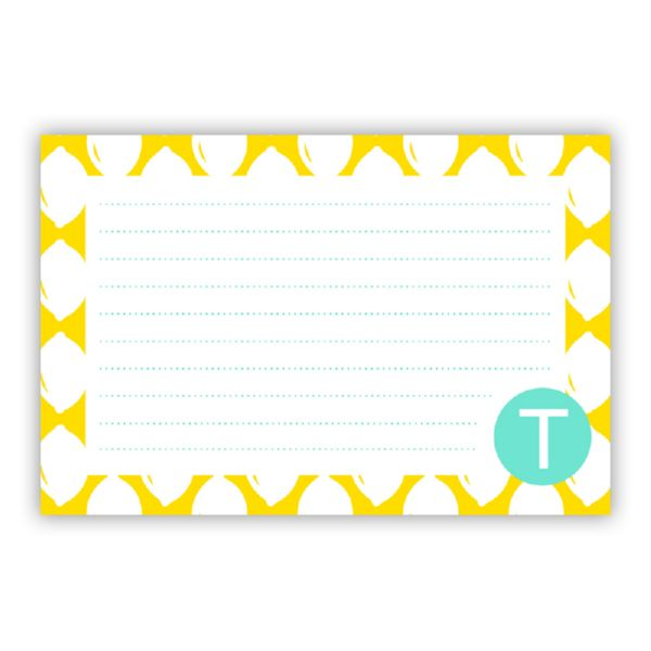 Meyer Personalized Double-Sided Recipe Cards (Set of 24)