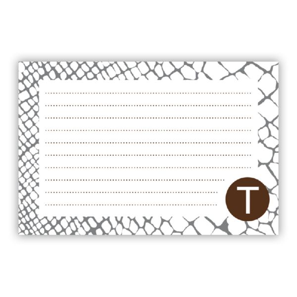 Snakeskin Personalized Double-Sided Recipe Cards (Set of 24)