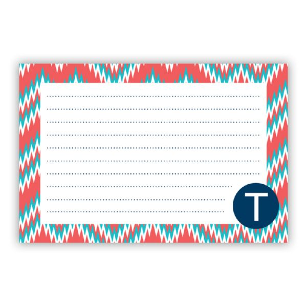 Mission Fabulous Personalized Double-Sided Recipe Cards (Set of 24)