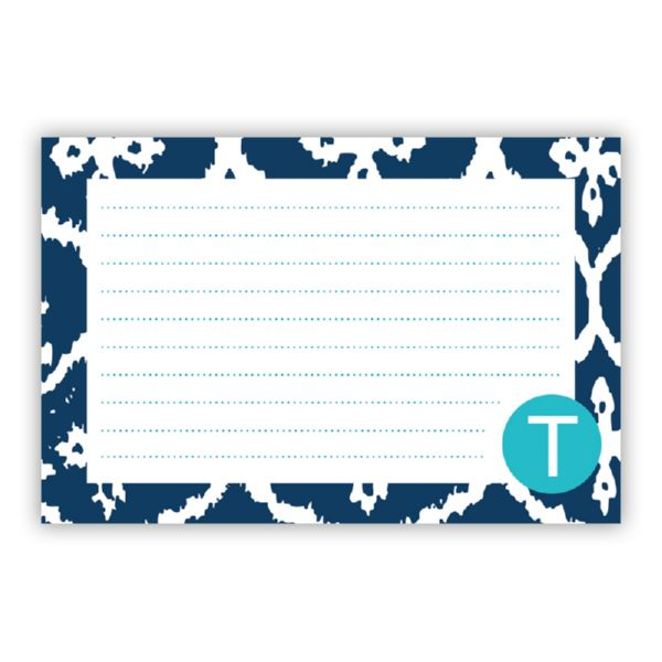 Montauk Personalized Double-Sided Recipe Cards (Set of 24)