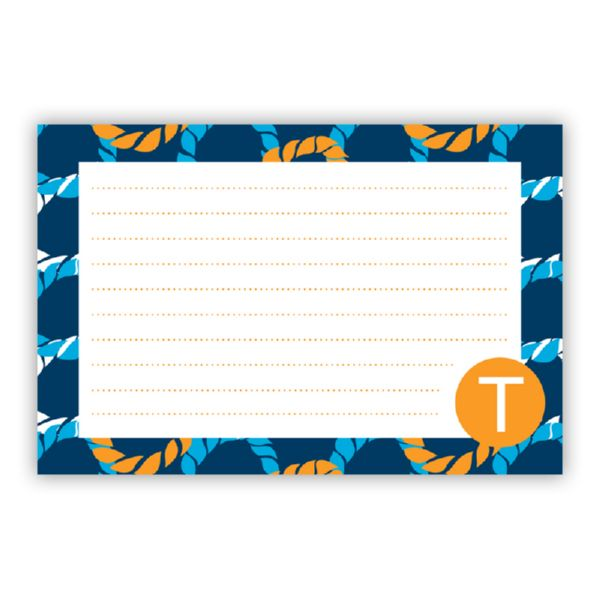 Nautical Knots Personalized Double-Sided Recipe Cards (Set of 24)