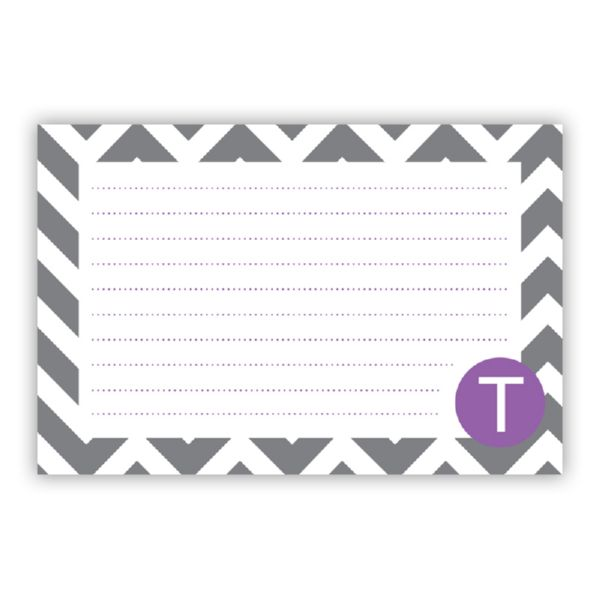 Ollie Personalized Double-Sided Recipe Cards (Set of 24)