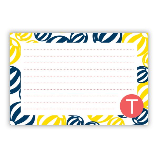 Palm Springs Personalized Double-Sided Recipe Cards (Set of 24)