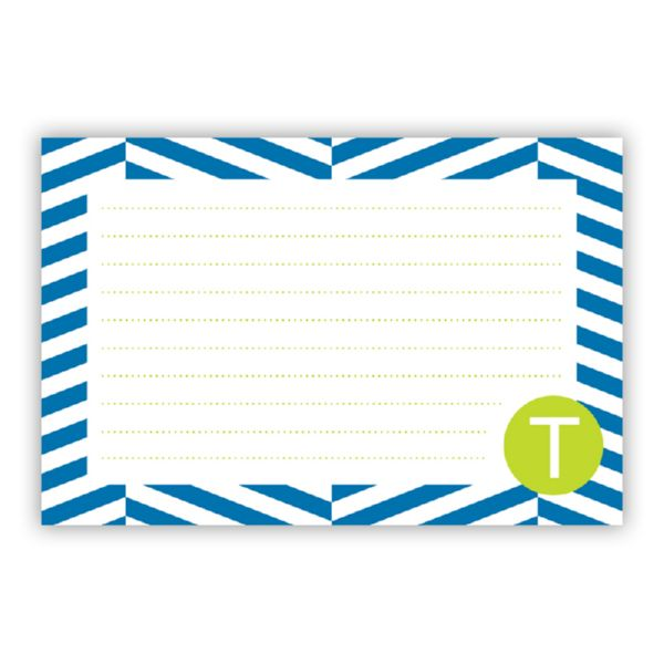 Perspective Personalized Double-Sided Recipe Cards (Set of 24)