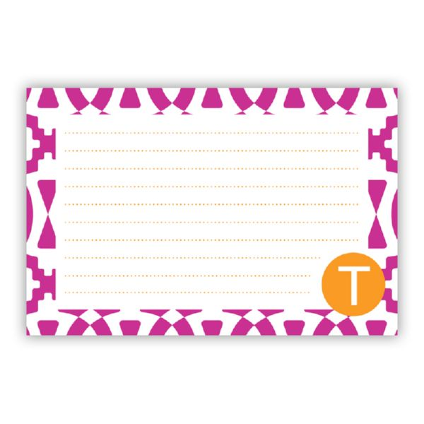 Poppy Personalized Double-Sided Recipe Cards (Set of 24)
