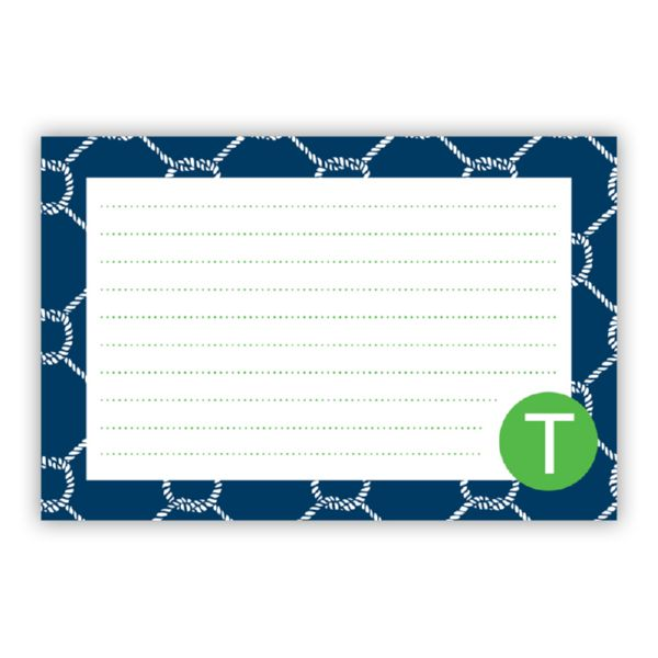 Rope Personalized Double-Sided Recipe Cards (Set of 24)