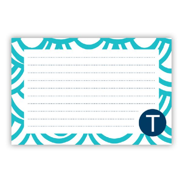 Seashells Personalized Double-Sided Recipe Cards (Set of 24)